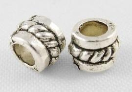 Tibetaans zilver tussenkralen 5x4mm LF0 aantal 20