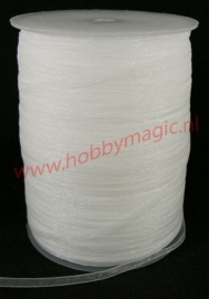 Organza lint 3mm wit