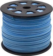 Suede veter blauw