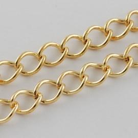 Schakelketting goudkleurig 5.5x4 mm  per 50cm