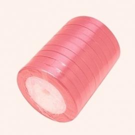 Satijn lint 6mm oudroze
