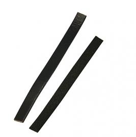 Leer plat  10 x 2mm zwart of donkerbruin