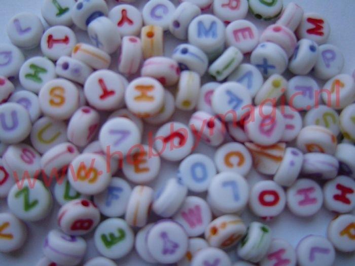 100 letterkralen 7mm