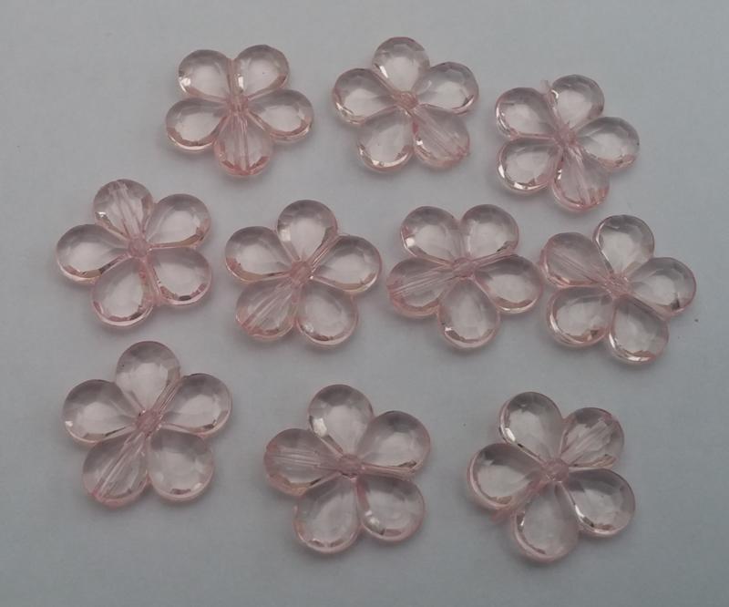 gratis   10 bloem kralen  zwart of roze   bij een bestelling vanaf €15,00