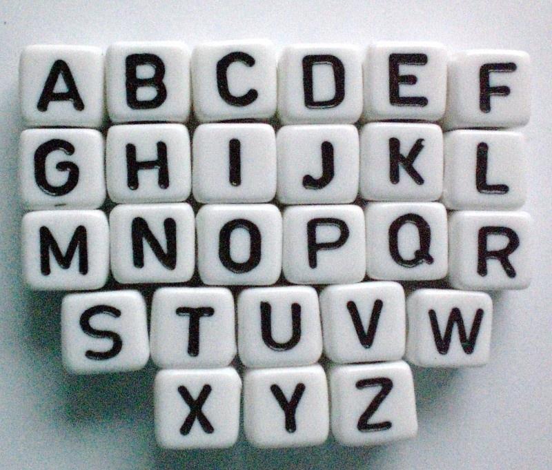 Letterkralen 8x8mm per letter
