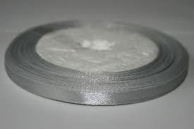 Satijnlint 6mm grijs