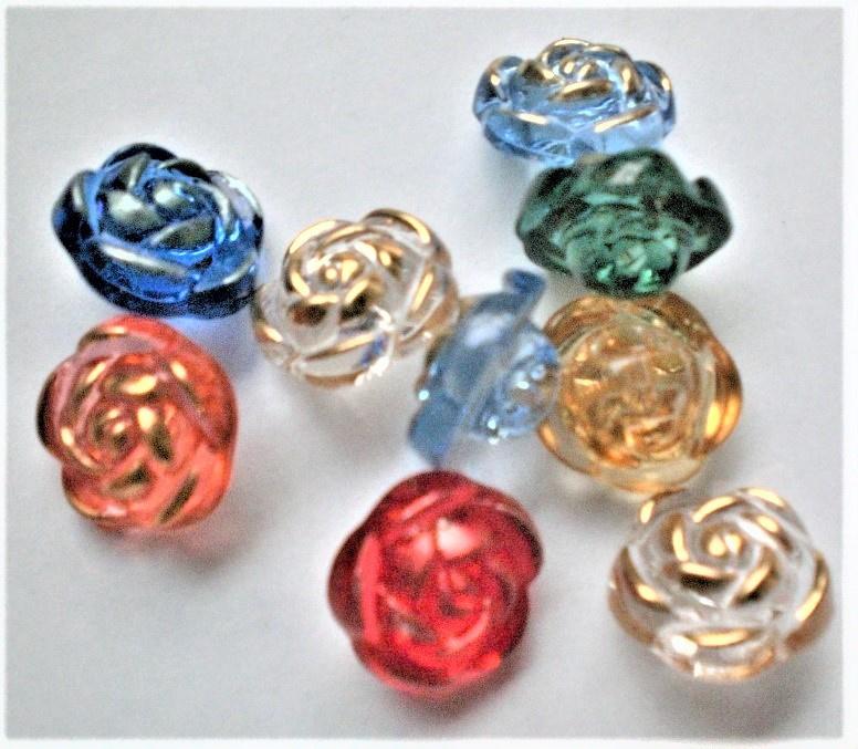Knopen 13mm roosjes Aantal 10