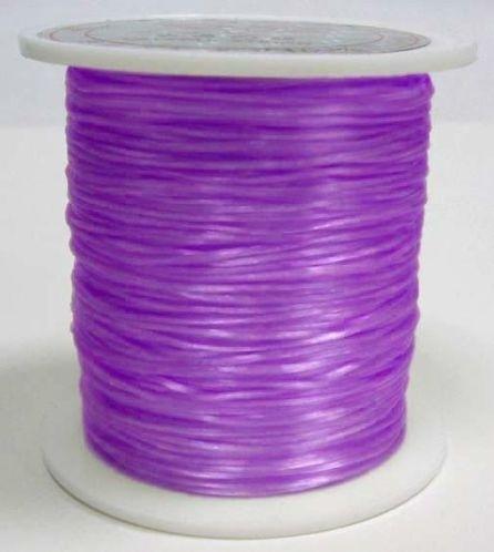 nylon elastiek 0.6mm 5meter violet/paars