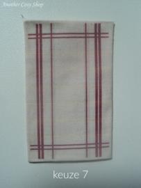 Poppenhuis miniatuur theedoek / keukendoek schaal 1:12