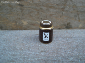 """Dollhouse miniature coffee tin with screw lid in 1"""" scale"""