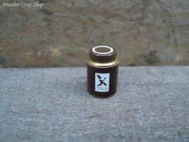 Poppenhuis miniatuur metalen blikje met deksel voor koffie schaal 1:12