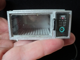 """Dollhouse miniature microwave in 1"""" scale"""