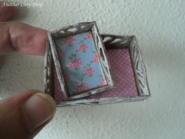Poppenhuis miniatuur set dienbladen