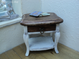 "Dollhouse miniature small table with drawer in 1"" scale"