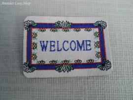 Poppenhuis miniatuur deurmat schaal 1:12