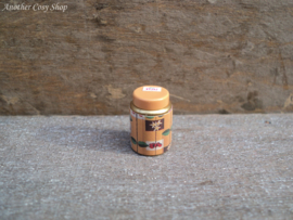 """Dollhouse miniature tea tin with screw lid in 1"""" scale"""