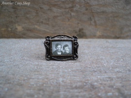 """Dollhouse miniature photo frame with picture children 1""""scale"""
