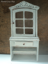 "Dollhouse miniature shabby chic storage cupboard in 1""scale"