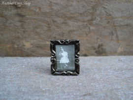 """Dollhouse minaiture photo frame with picture girl 1"""" scale"""