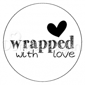 Sticker Wrapped with Love.