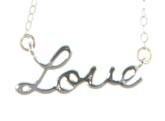 SALE/Ketting Love, zilver.