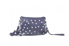 SALE. Clutch Mimic Copenhagen leer, Sterrenstuds