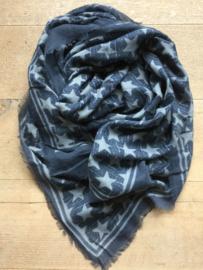 Sjaal stars blue.