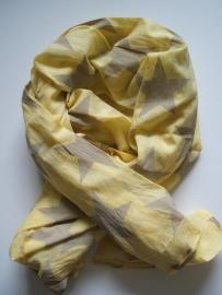 Sjaal, Mimic Copenhagen, Sterren, geel/zand.