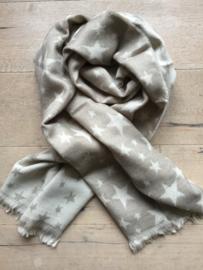 Sjaal ster beige.