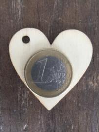 Houten hart labels small, per 30 stuks