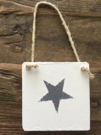 Houten hanger met ster