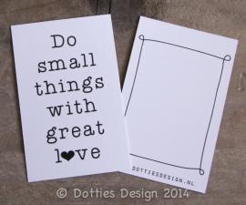 Kadolabel Do small things....