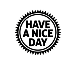 Stempel: HAVE A NICE DAY.