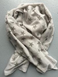 Sjaal grijs met antraciet sterren