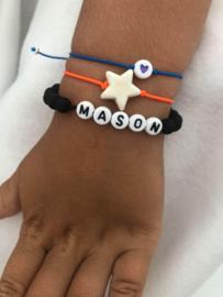 Armbandje vele kleuren elastiek met ster