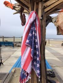 Hamamdoek Seahorse met Amerikaanse vlag.