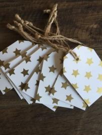 Kadolabels met gouden sterren