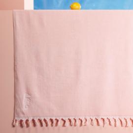 Velours hamam/badlaken XL roze