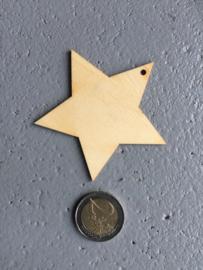 Houten ster medium, per 20 stuks