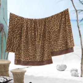 Leopard velours badlaken XL.