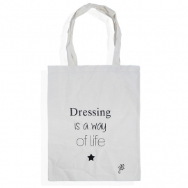 Katoenen tasje, Dressing....