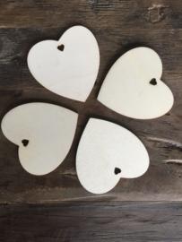 Houten hart XL, 20 stuks
