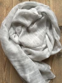 SALE. Sjaal grijs met witte Sterren.