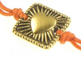 SALE. Armbandje Elegance, vierkant/Hartje.