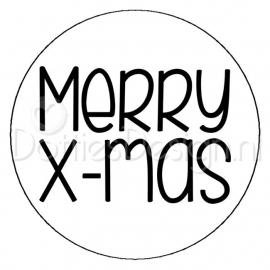 Sticker Merry X-mas