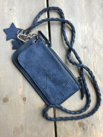 Keycord clutch star, blue.