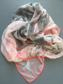 Sjaal bohemian, star pink