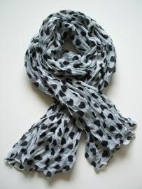 Sjaal met Harten, wit.