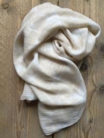 SALE. Sjaal zand met witte Sterren.