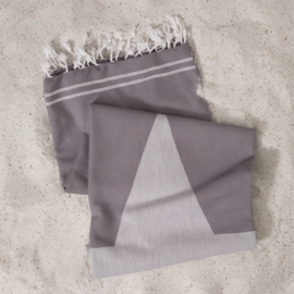 Hamamdoek XL grijs met ster